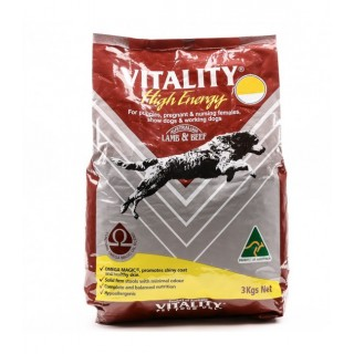 Vitality High Energy Lamb & Beef Dog Dry Food