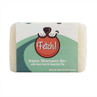Fetch Neem Natural Shampoo Bar with Aloe Vera & Essential Oils 100g