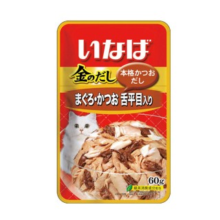 Inaba Jelly Tuna with Solefish 60g Cat Wet Food (IC22)