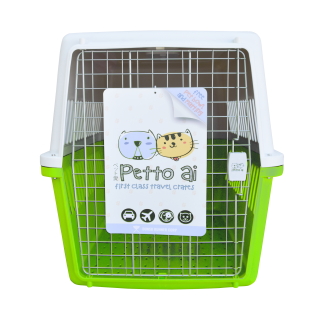 Petto Ai Airline Approved Pet Carrier Crate - GRASS GREEN