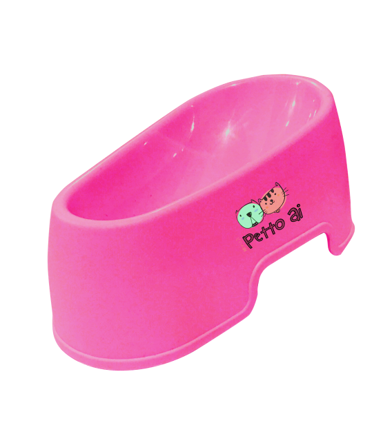 Petto Ai Plastic Pet Bowl - PINK