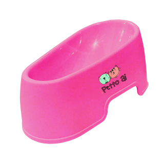 Petto Ai Plastic Pet Bowl - PINK
