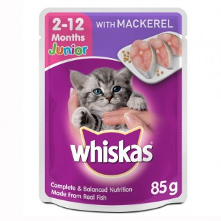 Whiskas Junior Mackerel 85g Cat Wet Food