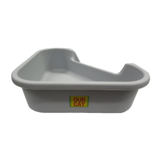 Our Cat TRIANGLE Cat Litter Pan Box