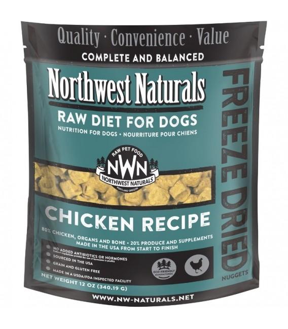 Northwest Naturals RAW DIET for Dogs - Freeze Dried CHICKEN RECIPE 340.19g (12oz)