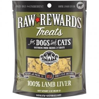 Northwest Naturals Raw Rewards LAMB LIVER 85.05g (3oz) Dog & Cat Freeze Dried Treats