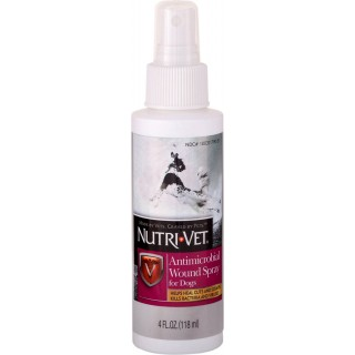 Nutri-Vet Antimicrobial Wound Spray 118ml Dog Spray