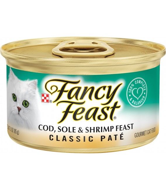 Purina Fancy Feast Classic Pate Cod, Sole & Shrimp 85g Cat Wet Food