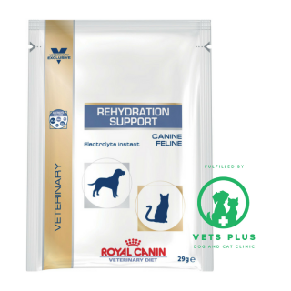 Royal Canin Veterinary Diet REHYDRATION SUPPORT (electrolyte powder) 29g for Dogs & Cats