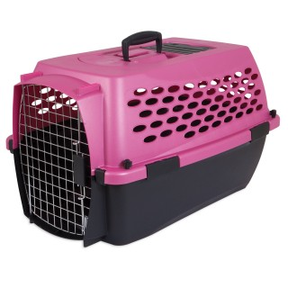 Petmate Vari Kennel Fashion Pet Carrier - 19x12.3x10.8in (PEARL RASPBERRY BLACK)