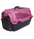 Petmate Vari Kennel Fashion Pet Carrier - 19x12.3x10.8in (PEARL RASPBERRY/BLACK)