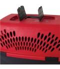 Aspen Pet Fashion Porter Pet Carrier - 26.2x18.6x16.5in (DEEP RED/BLACK)