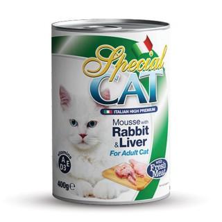 Monge Special Cat Mousse with Rabbit & Liver 400g Cat Wet Food