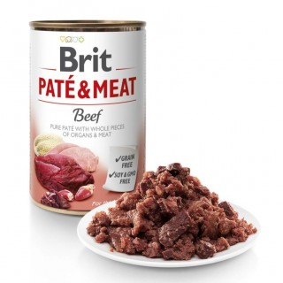 Brit Pate and Meat Grain Free Beef 400g Dog Wet Food