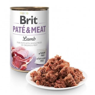 Brit Pate and Meat Grain Free Lamb 400g Dog Wet Food