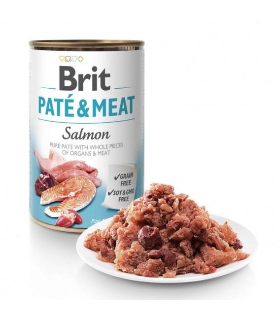 Brit Pate & Meat Salmon 400g Grain Free Dog Wet Food