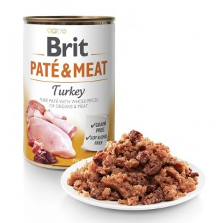 Brit Pate and Meat Grain-Free Turkey 400g Dog Wet Food