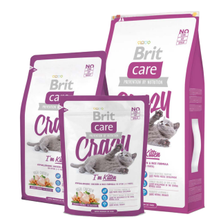 Brit Care Crazy I'm Kitten Hypoallergenic Chicken and Rice Kitten Dry Food
