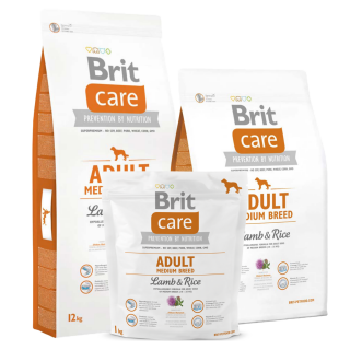 Brit Care Hypoallergenic Lamb and Rice for Medium Breed Adult Dog Dry Food