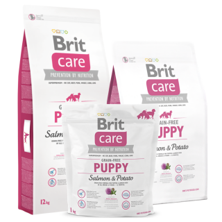 Brit Care Grain Free Salmon and Potato for All Breeds Puppy Dry Food